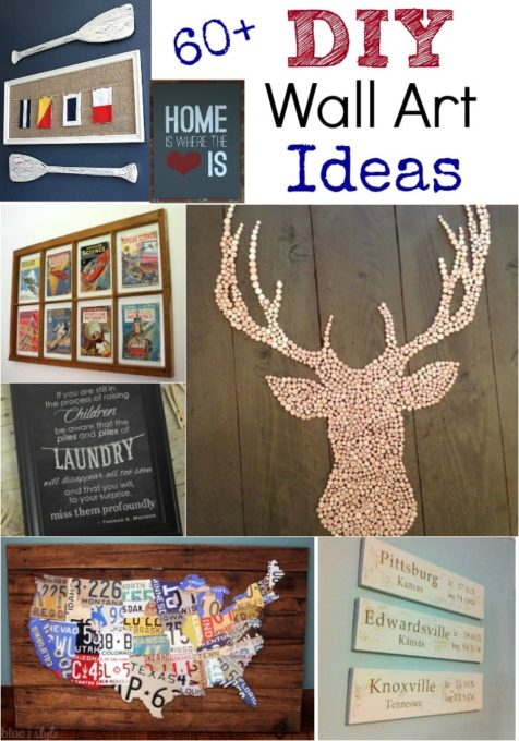 DIY Wall Art Ideas - Get more than 60 ideas for wall art that you can make for your home.