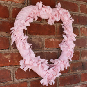 Farmhouse Style Heart Rag Wreath