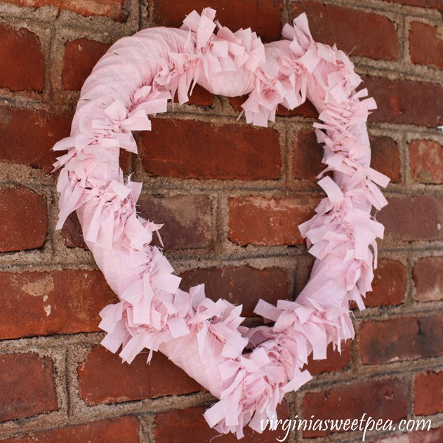 How to Make a Heart Shaped Rag Wreath for Valentine's Day