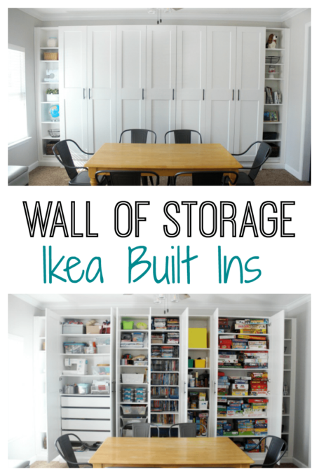 DIY Ikea Built-in Storage Wall
