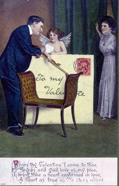 Vintage Valentine's Day Postcard from 1910.