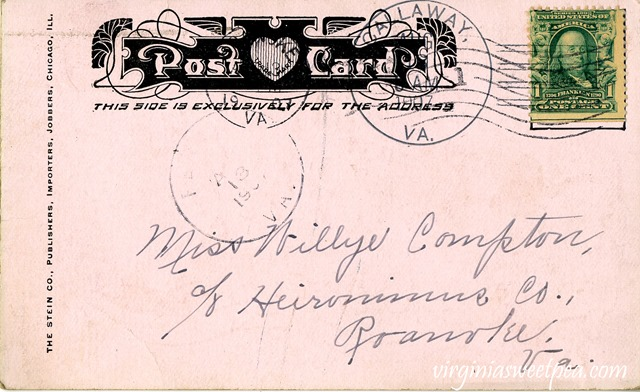 Vintage Valentine's Day Postcard from the Early 1900's - Heironimus in Roanoke, VA