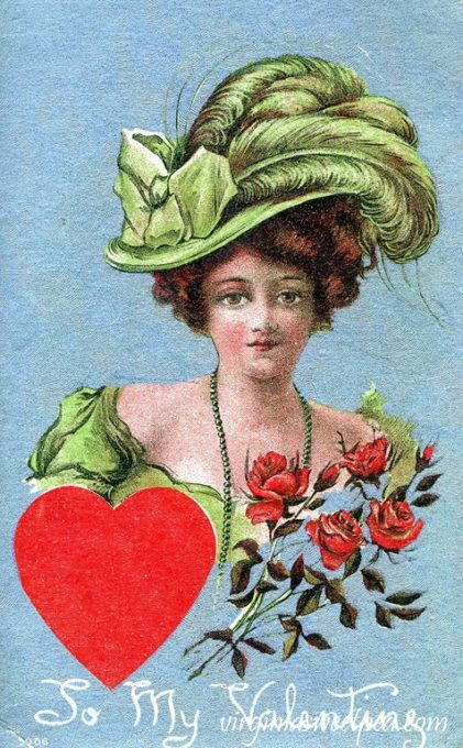 Vintage Valentine's Day Postcards - See a collection of postcards from the early 1900's. virginiasweetpea.com