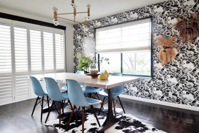 Mid-Century Floral Dining Room Reveal