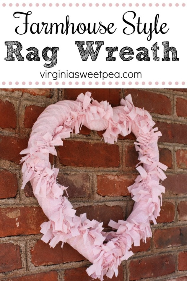 Tutorial to Make a Farmhouse Style Rag Wreath