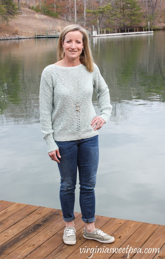 Stitch Fix Review for March 2018 -Absolutely Kerwin Open Back Pullover - virginiasweetpea.com #stitchfix #stitchfixreview #fashion #fashionover40