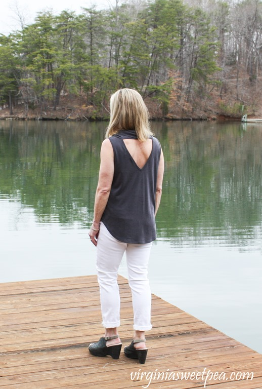 Stitch Fix Review for March 2018 -Le Lis Yeaton Cowl Neck Knit Top - virginiasweetpea.com #stitchfix #stitchfixreview #fashion #fashionover40