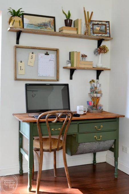 Vintage Modern Boho Office Makeover