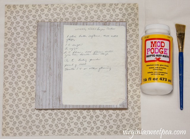 Use Vintage Recipes to Create Unique Art for Your Kitchen. Learn how easy it is to use handwritten recipes to make kitchen art. This is an easy craft that makes a great gift.
