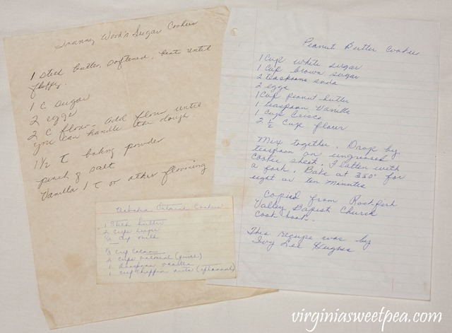 Old Handwritten Family Recipes
