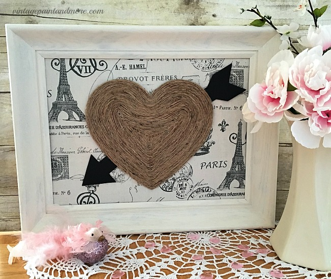 Vintage Valentine Heart Wall Art