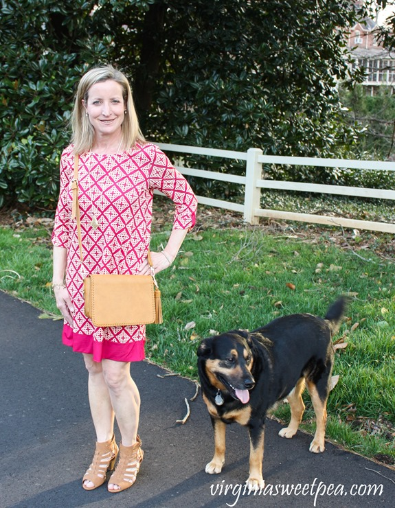 Stitch Fix Review for April 2018-Linea Pelle Carmen Whipstitch Crossbody and 41 Hawthorn Reese Knit Dress