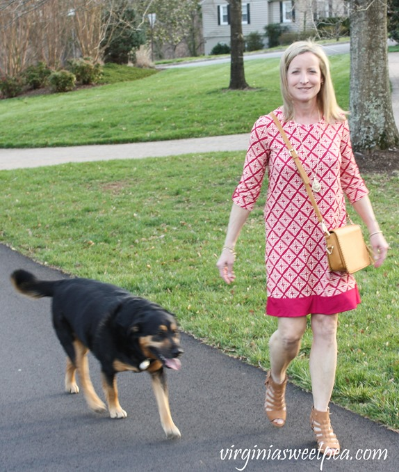 Stitch Fix Review for April 2018-Linea Pelle Carmen Whipstitch Crossbody and 41 Hawthorn Reese Knit Dress - virginiasweetpea.com