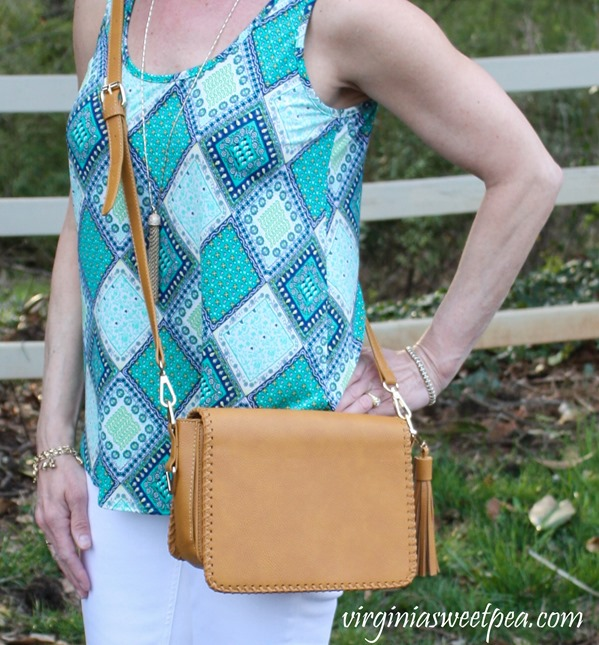 April 2018 Stitch Fix Review-Linea Pelle Carmen Whipstitch Crossbody - virginiasweetpea.com