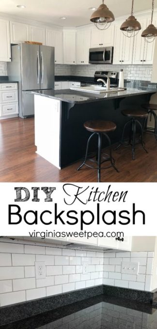 DIY Kitchen Backsplash at Smith Mountain Lake, VA