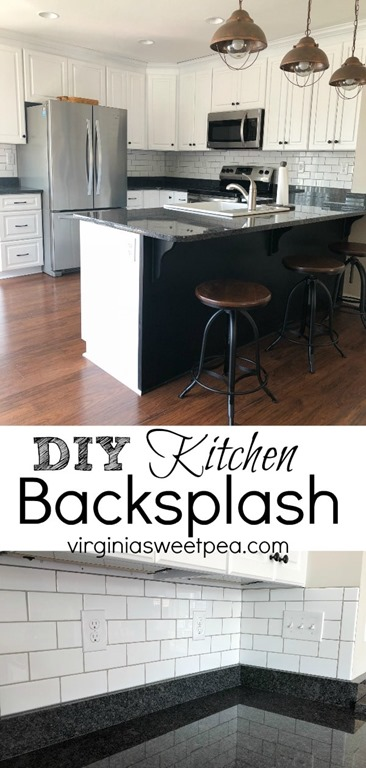 DIY Kitchen Backsplash - Installing a backsplash isn't as hard as you might think. #backsplash #subwaytile #smithmountainlake