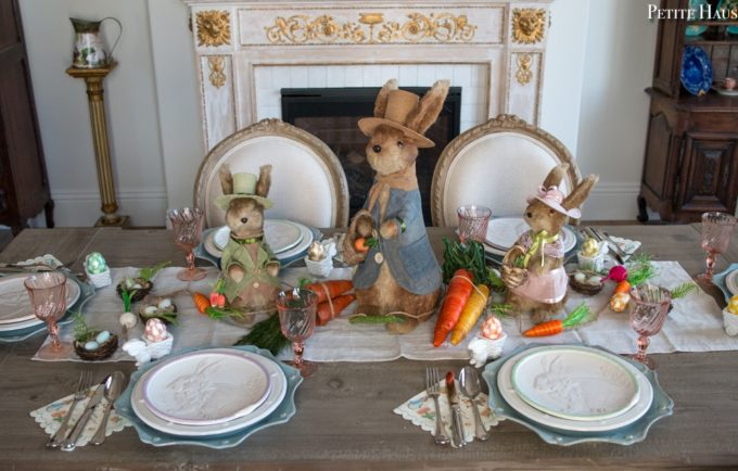 Easter Bunny Tablescape - Best of the Weekend Feature for March 30, 2018