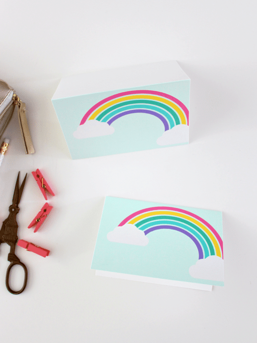 Free Printable Rainbow Note Cards - Best of the Weekend Feature for March 9, 2018