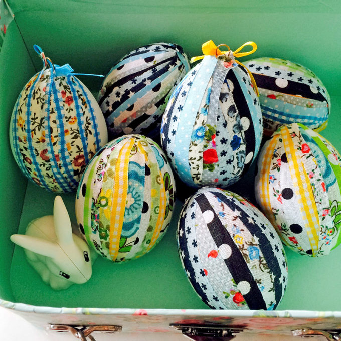 No-Sew Fabric Easter Eggs - Best of the Weekend Feature for March 16, 2018