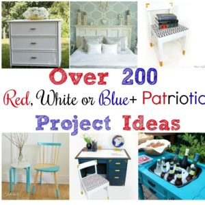 Over 200 Project Ideas in Red, White or Blue + Patriotic