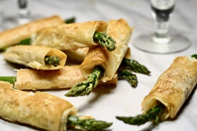 Phyllo Wrapped Asparagus - Best of the Weekend Feature for March 9, 2018