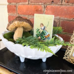 St. Patrick's Day Vignette and Vintage Post Cards