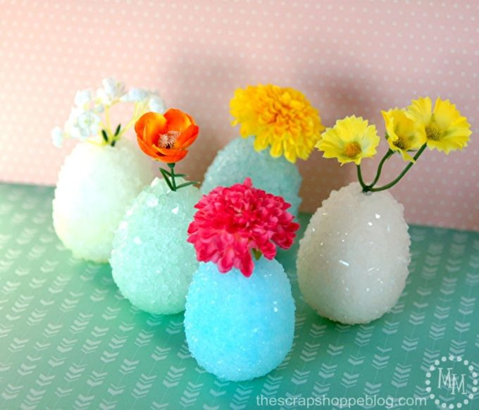 Crystallized Egg Vases - Best of the Weekend Feature for March 16, 2018