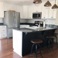 DIY Subway Tile Kitchen Backsplash at Smith Mountain Lake, VA