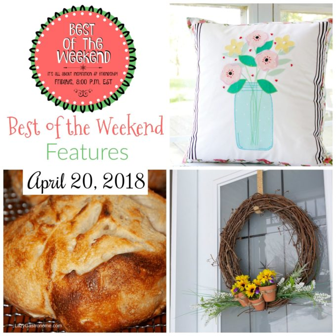 Best of the Weekend Features for April 20, 2018