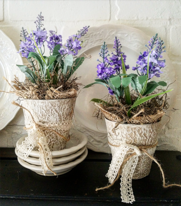 DIY 5 Minute Potted Lavender Pots - Best of the Weekend Feature for April 27, 2018