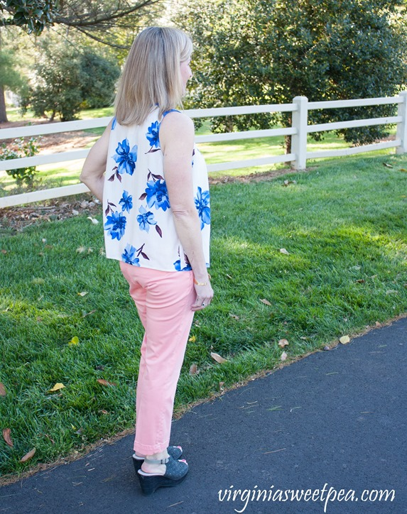 Stitch Fix Review May 2018 - Collective Concepts Jordano Hidden Button Front Top and Lila Ryan Melina Straight Leg Pant