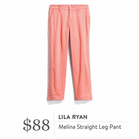 Lila Rayn Melina Straight Leg Pant