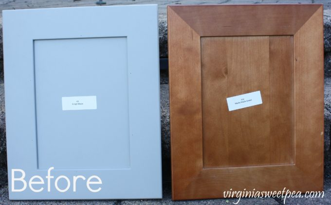 Cabinet Doors Before Makeover - These doors become a DIY Message Board and Organizer.