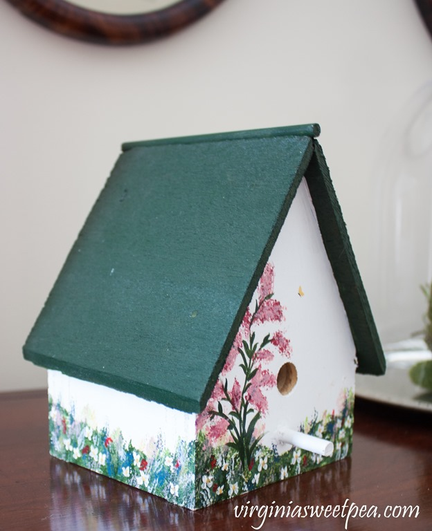 Hand painted bird house crafted in 1997. #birdhouse #handpainted