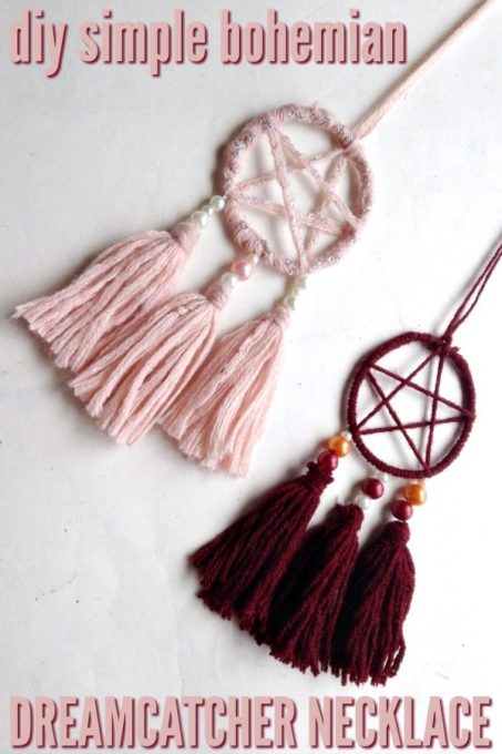 DIY Simple Bohemian Dreamcatcher Necklace - Best of the Weekend Feature for May 11, 2018