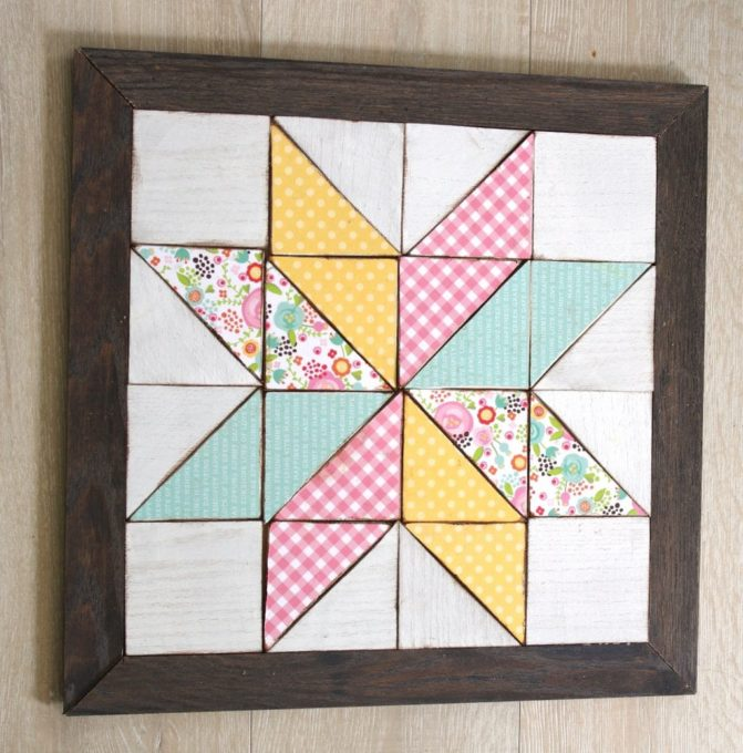 DIY Wooden Square Quilt Art - Best of the Weekend Feature for May 11, 2018