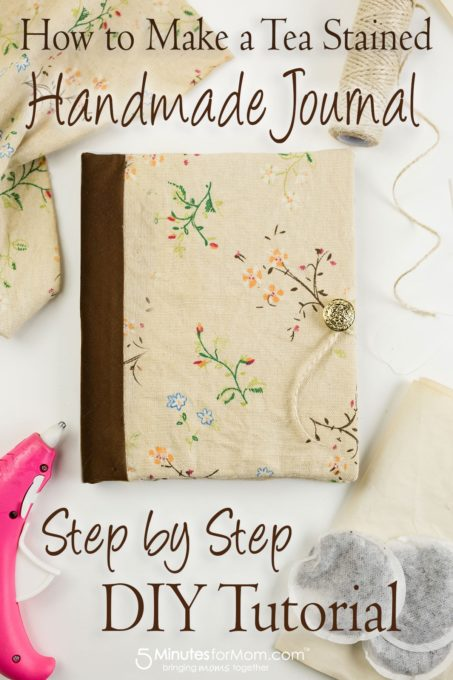 How to Make a Tea Stained Journal - Best of the Weekend Feature for May 4, 2018