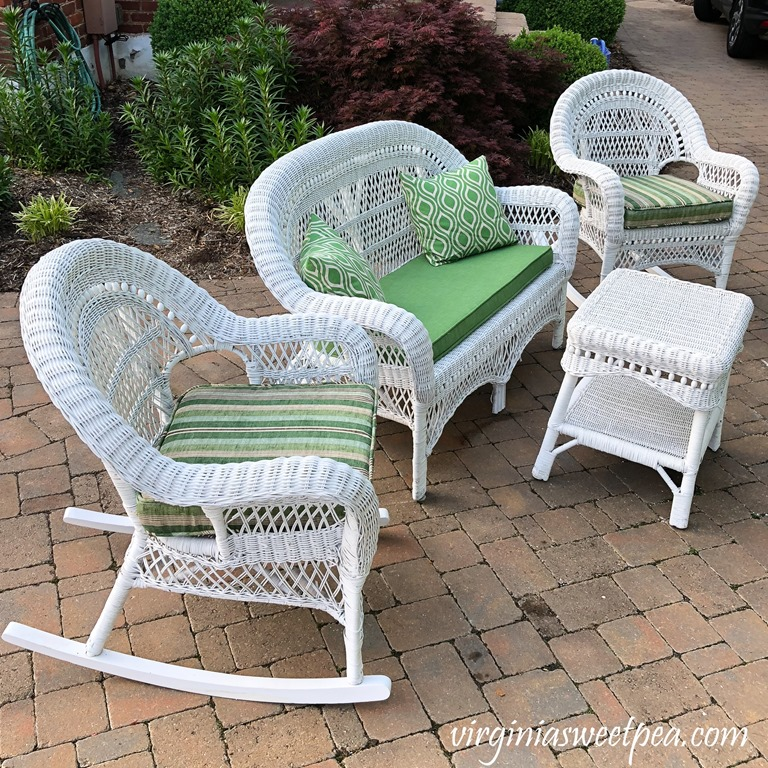 Wicker Porch Furniture Makeover Sweet Pea