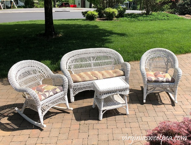 Wicker Porch Furniture Before Makeover