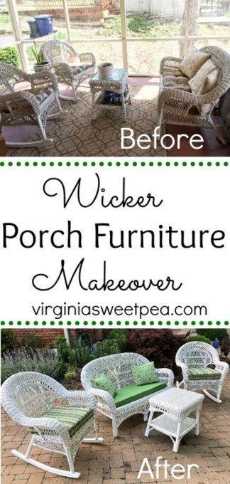 Wicker Porch Furniture Makeover