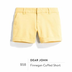 Dear John Finnegan Cuffed Short