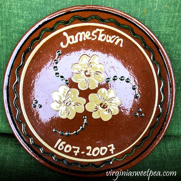 400th Anniversary of Jamestown Commemorative Plate #jamestown #virginiahistory