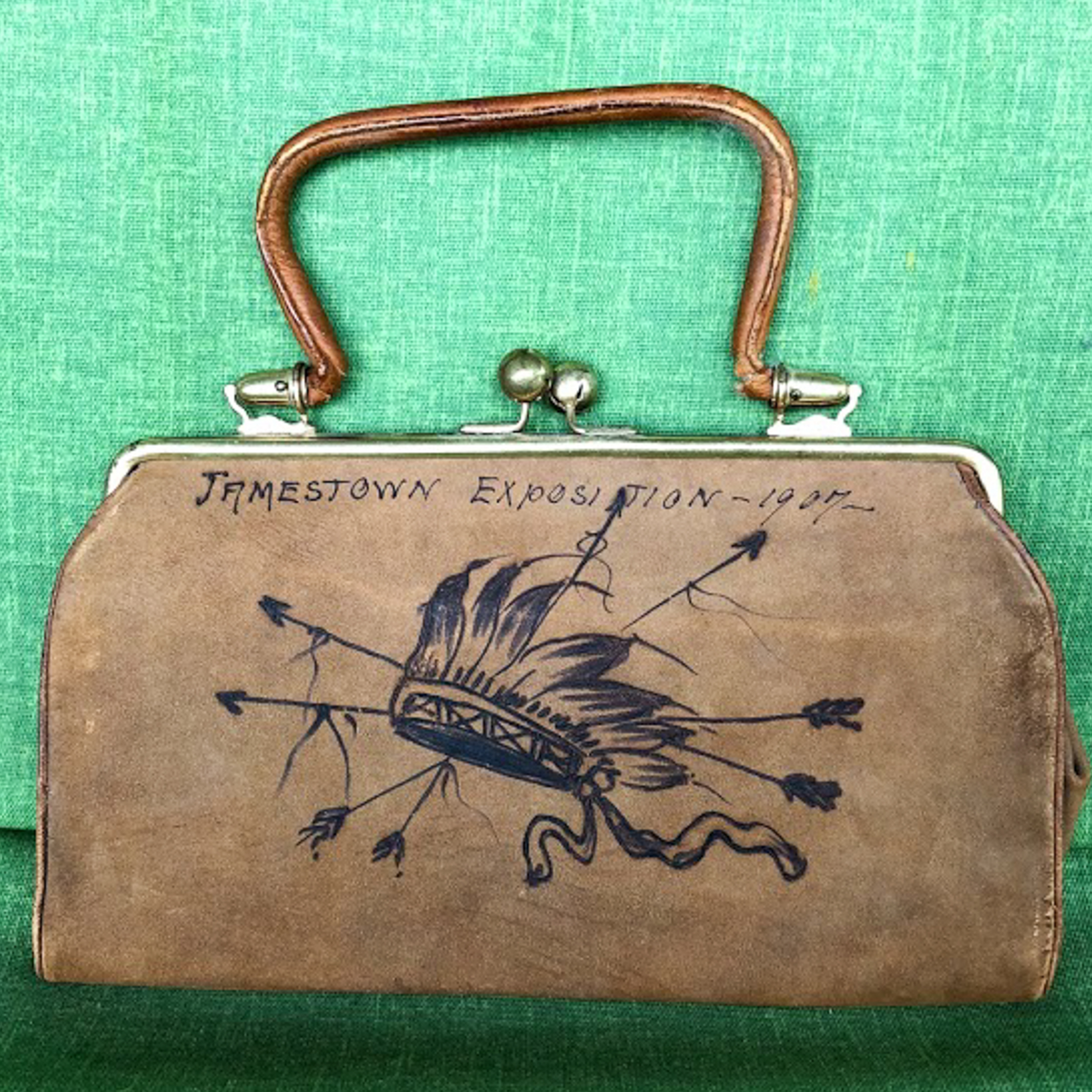 1907 Jamestown Exposition Souvenir Purse