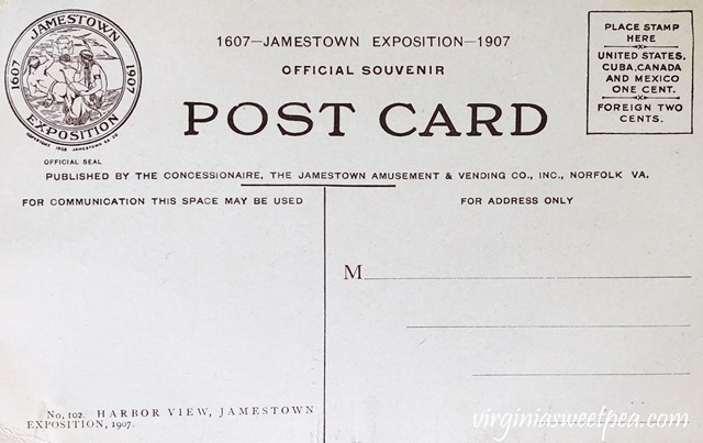 1907 Jamestown Exposition Postcard #jametown #jamestownexposition #1907 #antiquepostcard