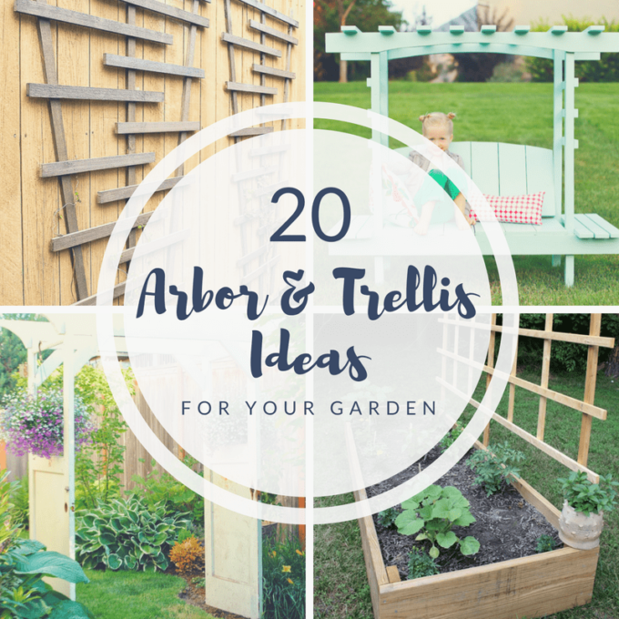 20 DIY Arbor and Trellis Ideas for your Garden - Best of the Weekend Feature for June 29, 2018