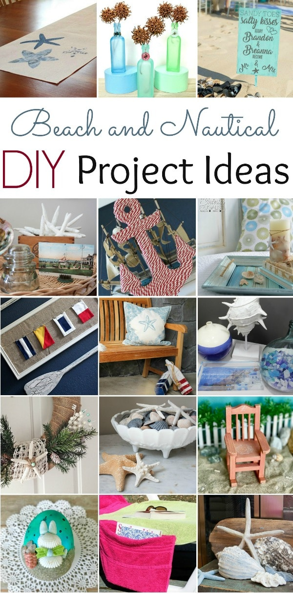 Beach and Nautical DIY Project Ideas - Get ideas for beach and nautical projects that you can make for your home.