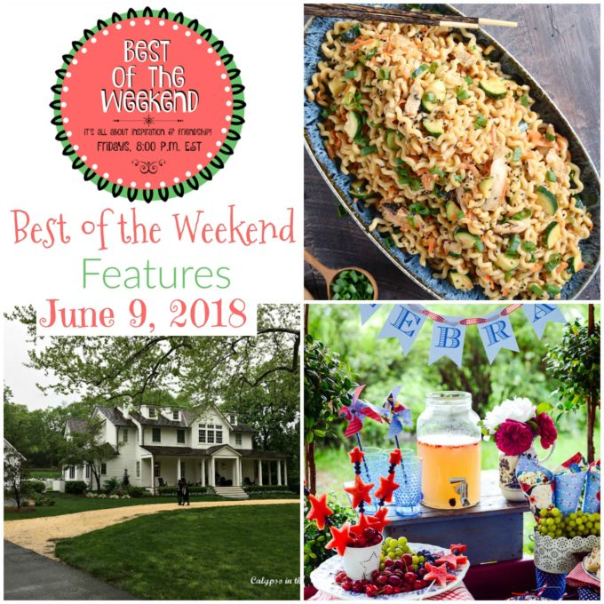 Best of the Weekend Features for June 9, 2018