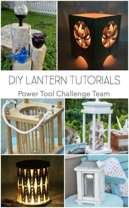 DIY Lantern Tutorials - Get ideas for lanterns that you can make for your home. #woodworking #diy #diylantern