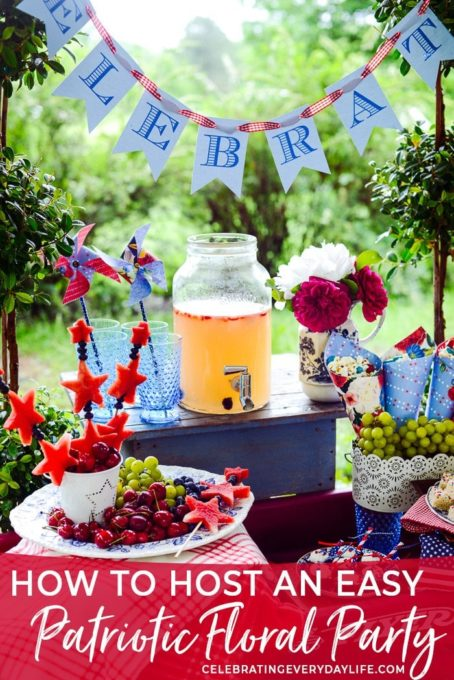 How to Host an Easy Beautiful Patriotic Party - Best of the Weekend Feature for June 8, 2018