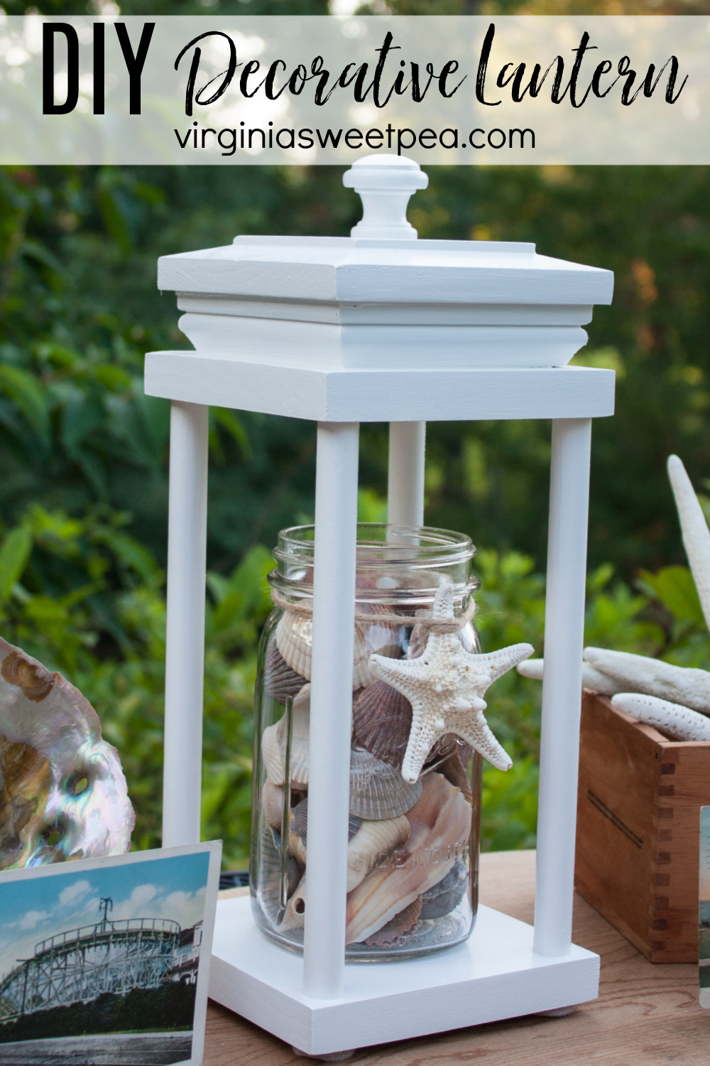 DIY Decorative Lantern - Learn how to make a lantern that can be used for decor in any season. This is an easy woodworking project. #diylantern #lantern #woodworking #howtomakealantern via @spaula